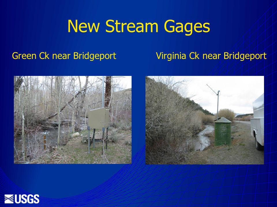 New Stream Gages Green Ck near Bridgeport Virginia Ck near Bridgeport