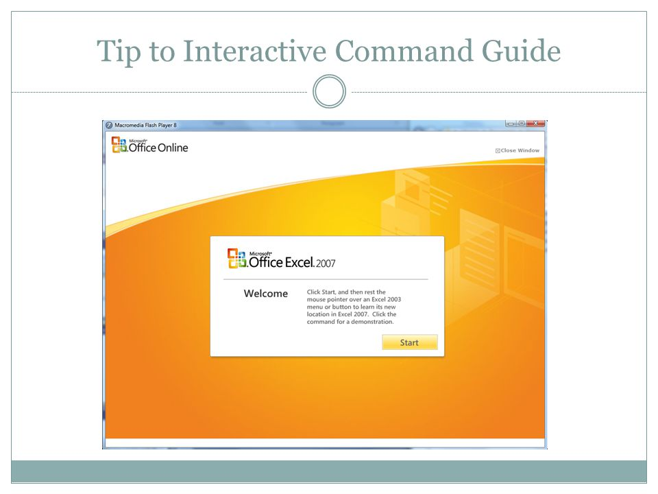 Tip to Interactive Command Guide
