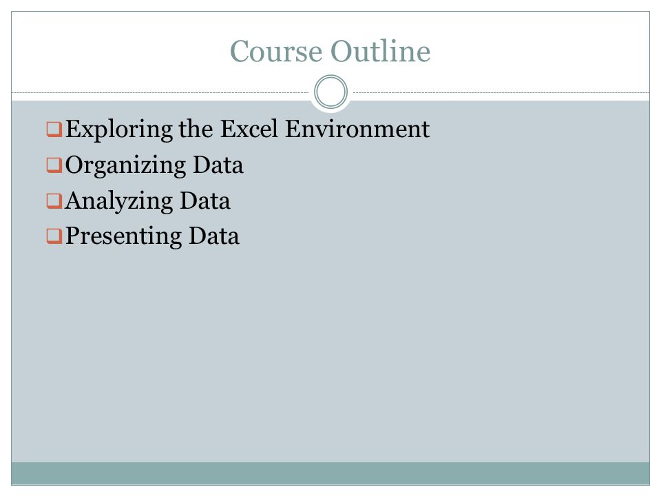 Exploring the Excel Environment Explore the User Interface Work with the Ribbon Work with Contextual Tabs Use Excel Galleries Customize the Excel Interface