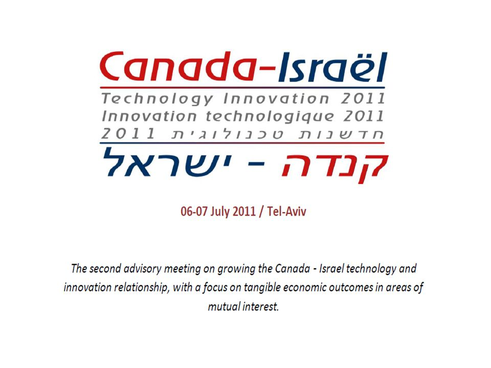 State of Israel Ministry of Industry, Trade & Labor Office of the Chief Scientist Canada-Israel Technology Innovation Summit 2011 06-07 July 2011 / Tel-Aviv Renewable Energy Group