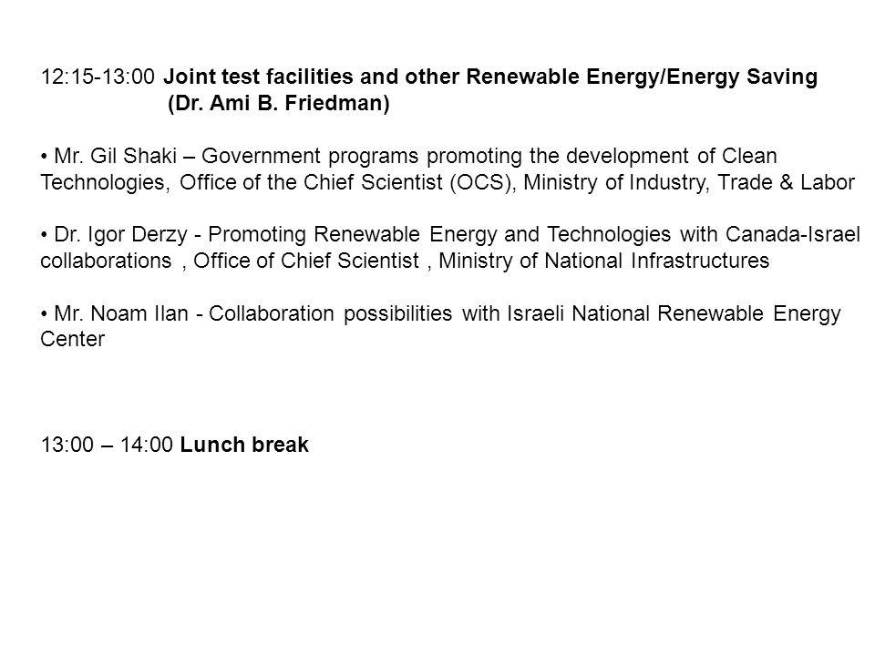 14:00 – 16:30 Pre-summit meeting (Dr.Roman Szumski, NRC, Dr.