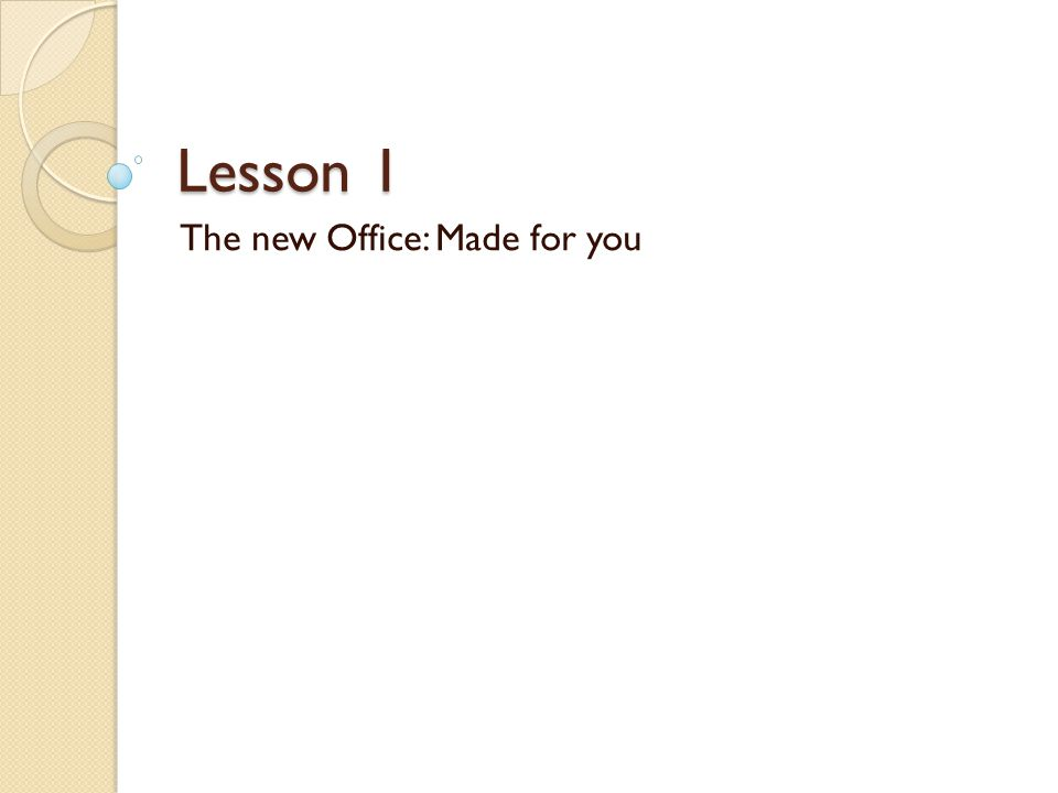 Get up to speed with the 2007 Office system Yes, theres a lot of change to familiar Microsoft Office programs.