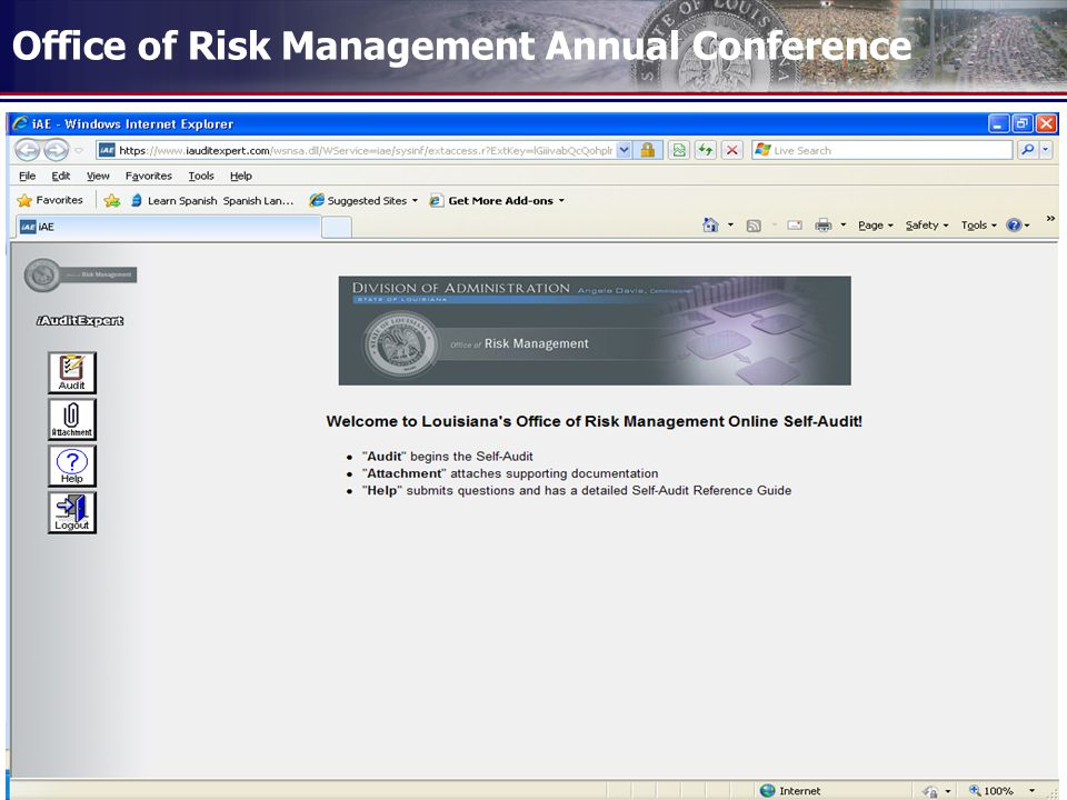 Office of Risk Management Annual Conference