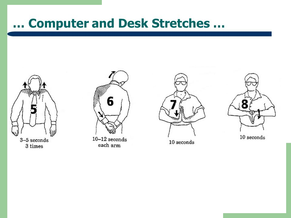… Computer and Desk Stretches …