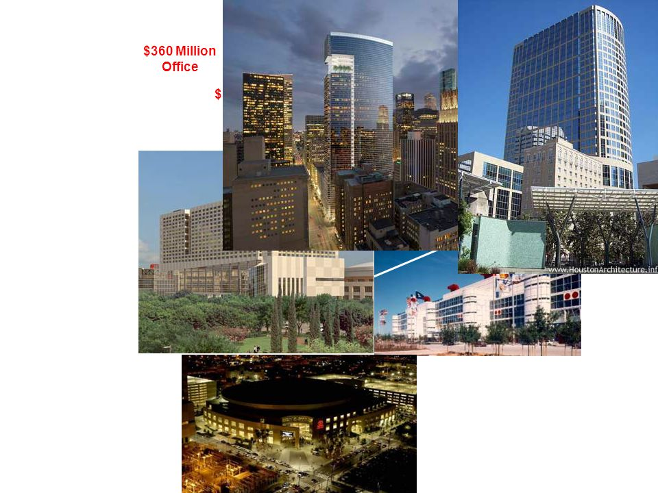 $360 Million Office $350 Million Office $230 Million Office 180 Million Hotel 230 Million Mixed Use $320 Million Apartment 83 Million Urban Park / Garage