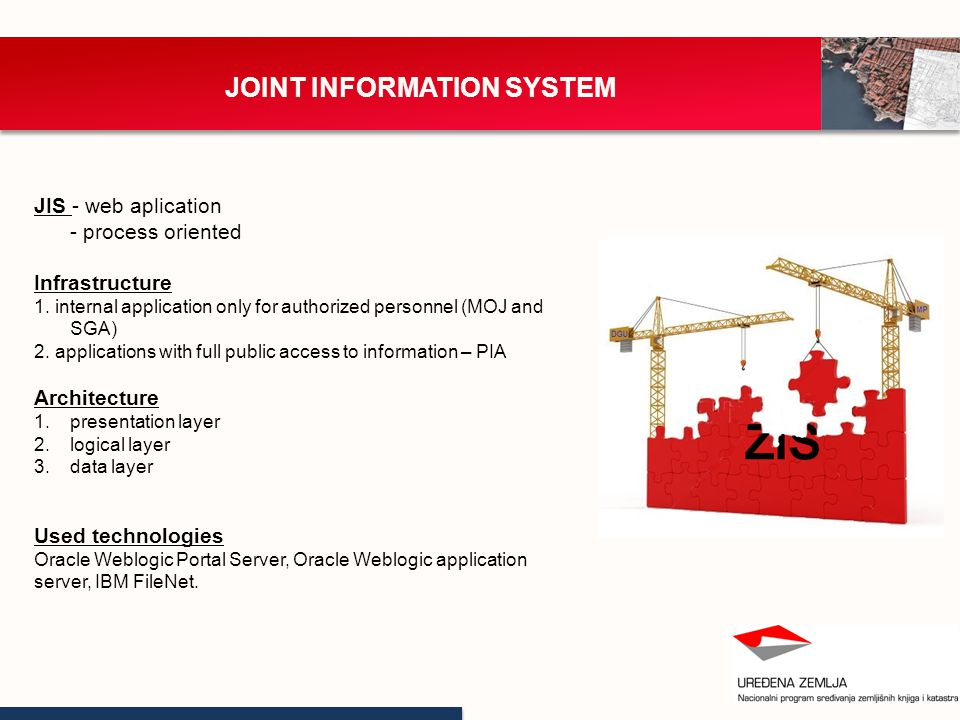 JOINT INFORMATION SYSTEM JIS - web aplication - process oriented Infrastructure 1.