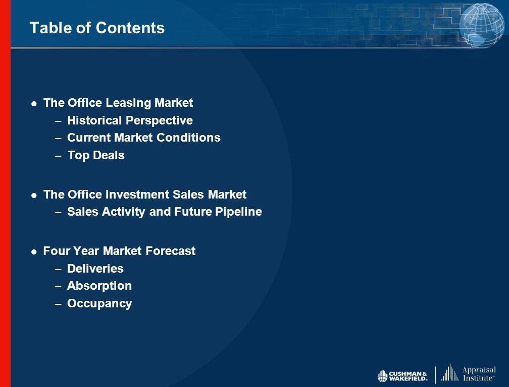 3 rd Quarter 2004 Office Leasing Market