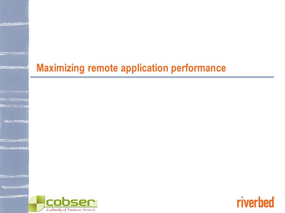 © 2006 RIVERBED TECHNOLOGY, INC – CONFIDENTIAL 9 Distributed computing problems are converging File Servers Mail Servers Web Servers FilersTape Backup Storage WAN File Servers Mail Servers Filers Tape Backup DATA CENTERBRANCH OFFICE Application problems Web, e-mail, FTP, Notes, ERP, database, etc… Slow response times Apps often not used…too slow Storage problems Data sprawl Islands of storage Backup & replication Compliance worries Networking problems Need more bandwidth Latency is a secret throughput killer