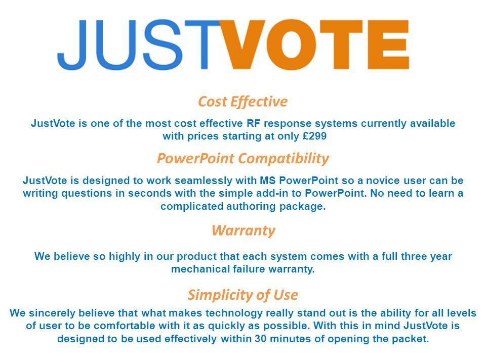 JustVote Reports Screen (Summary Records Report) Each result is saved by Class, subject and date/time