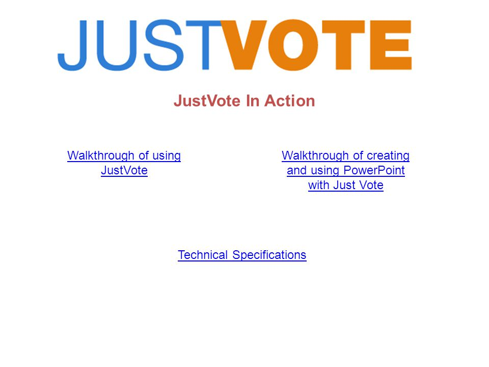 JustVote Live Activity Screen (Question 2 – with image) Quickly see which handsets have responded