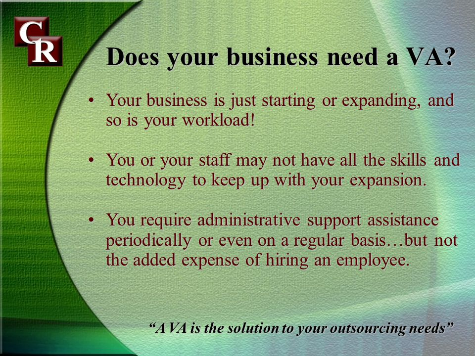 Does your business need a VA.