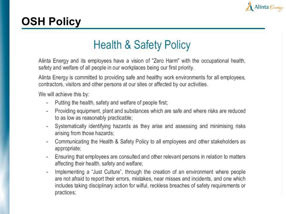 OSH Policy