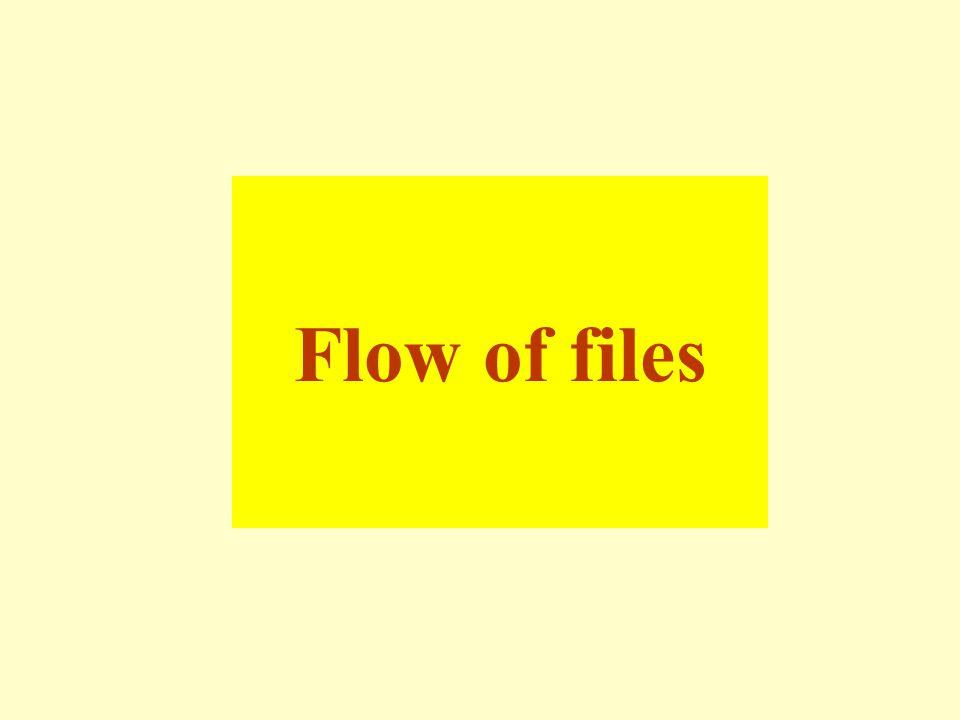 Flow of files