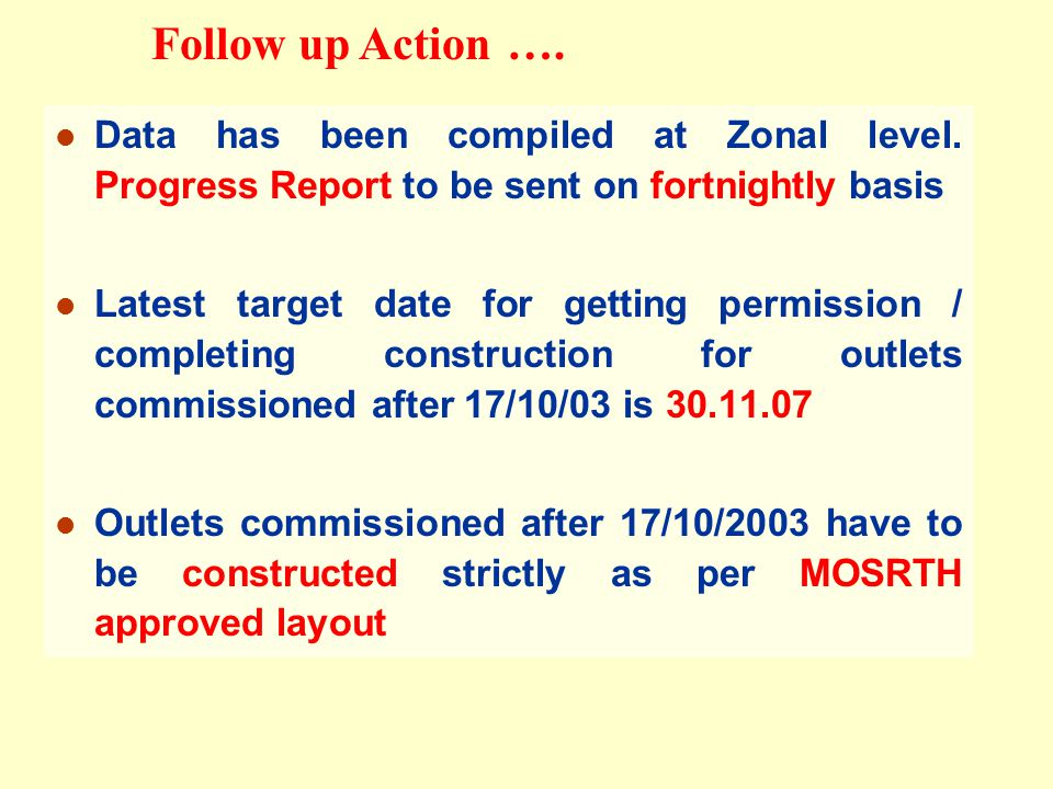 Data has been compiled at Zonal level.