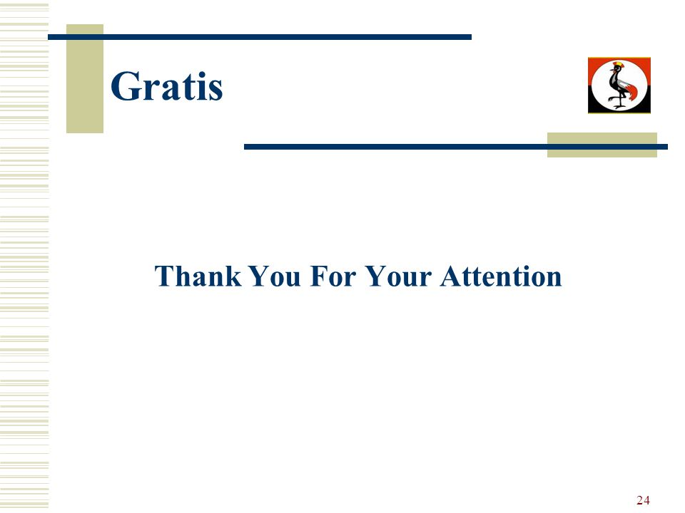 24 Gratis Thank You For Your Attention