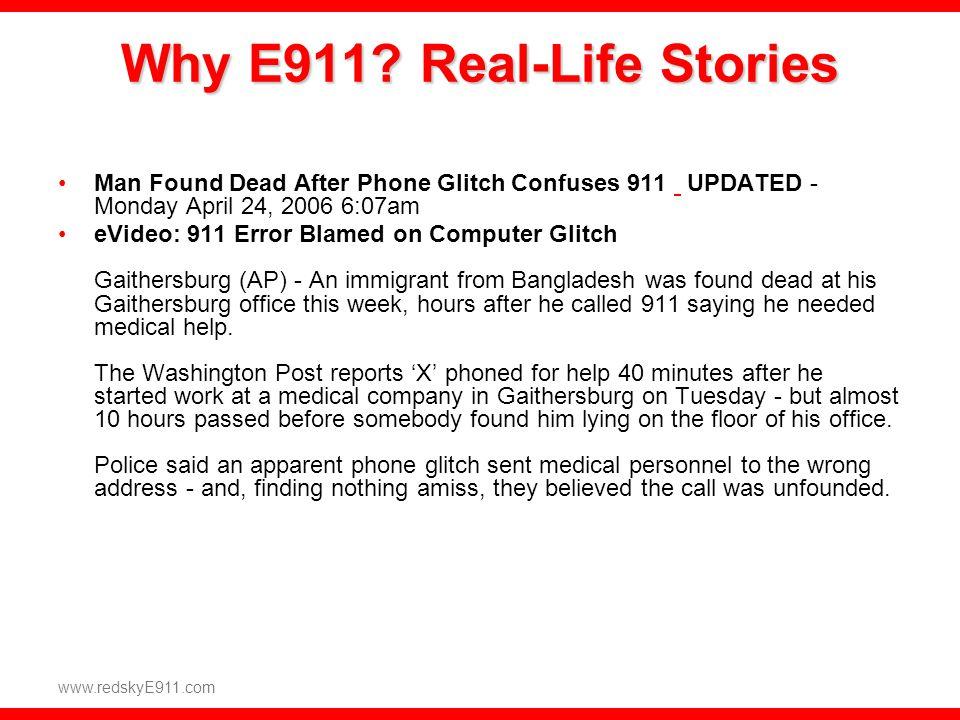 www.redskyE911.com Emergency On-site Notification