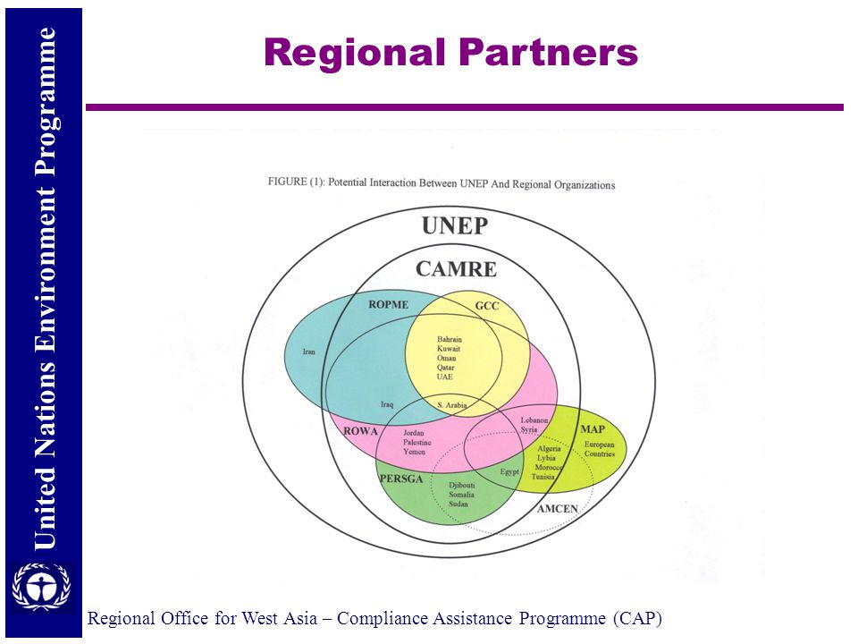 United Nations Environment Programme Regional Office for West Asia – Compliance Assistance Programme (CAP) Regional Partners