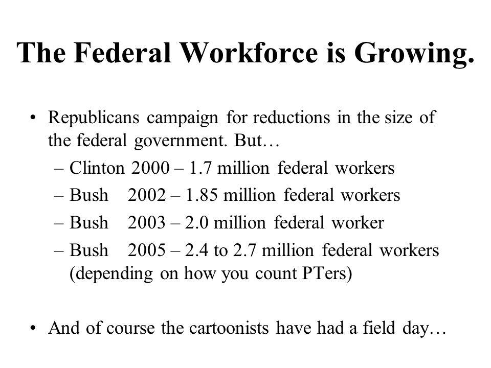 The Federal Workforce is Growing.