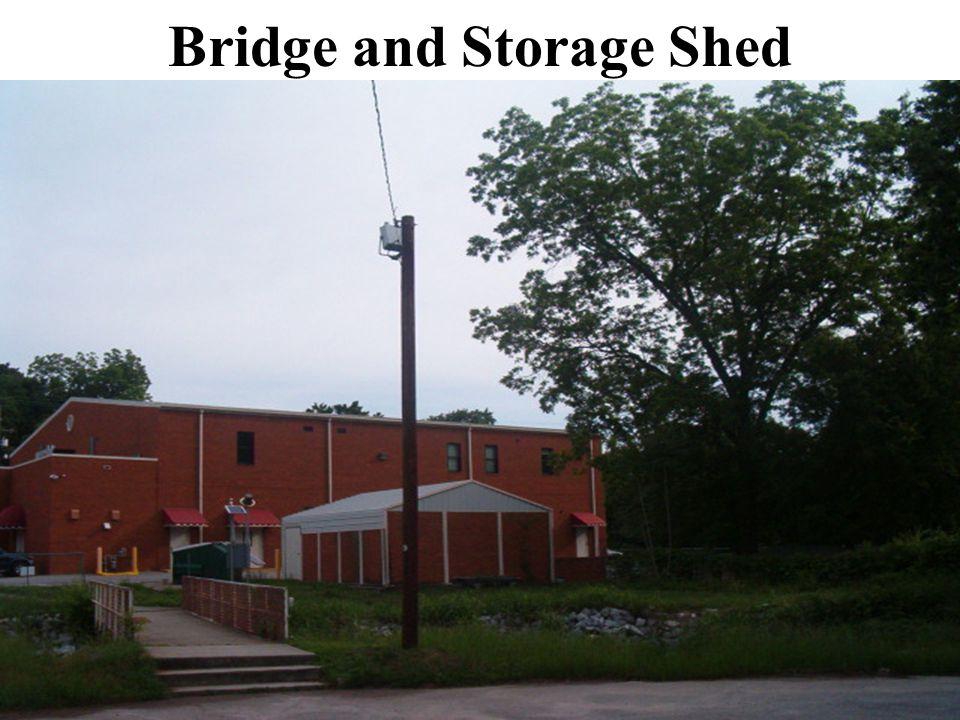 Bridge and Storage Shed