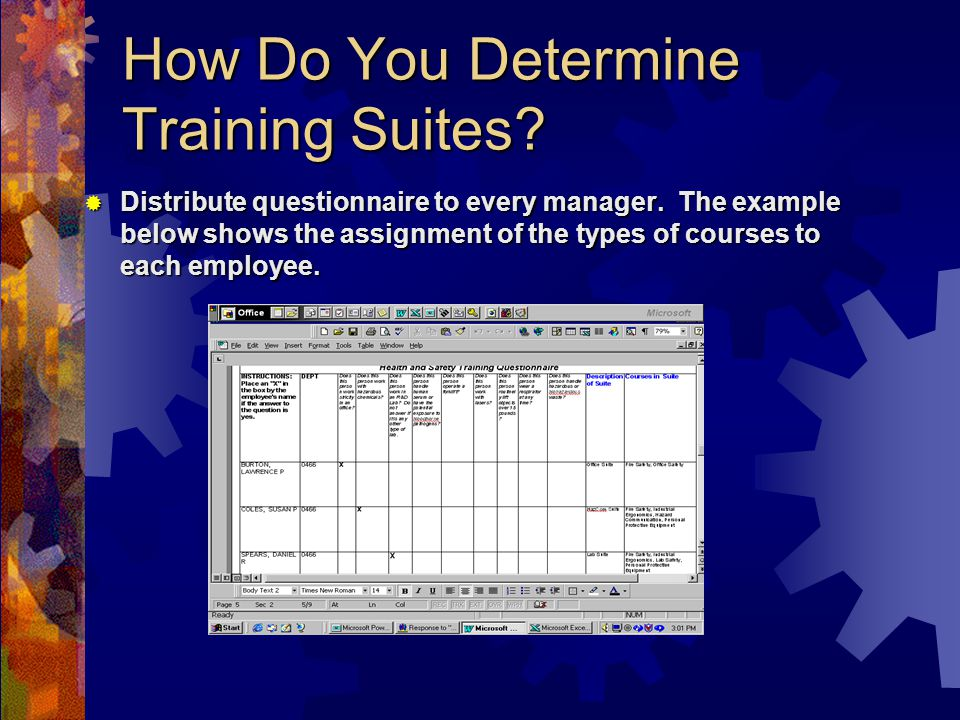 How Do You Determine Training Suites.