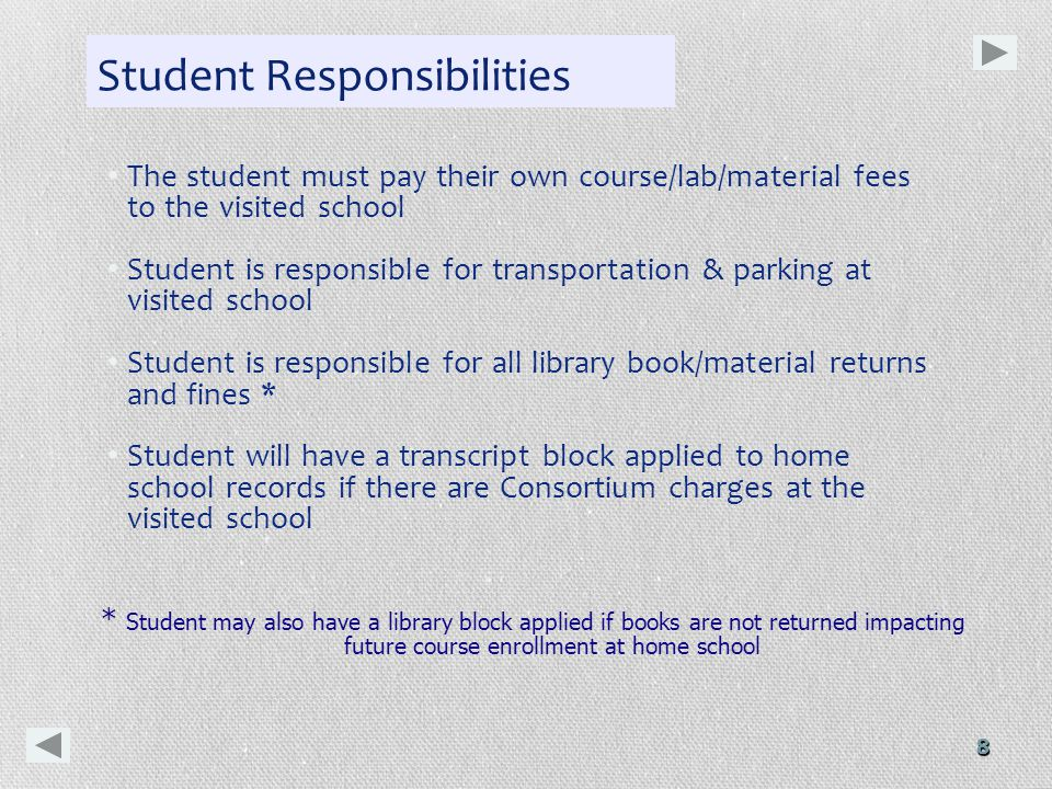 9 FYI: Checklist for Participation Need good academic standing & campus status Need to clear all Gallaudet & Consortium debt before new term begins Students carrying debt to any Consortium institution – may not have future success in cross registering and their GU transcript release will be blocked.