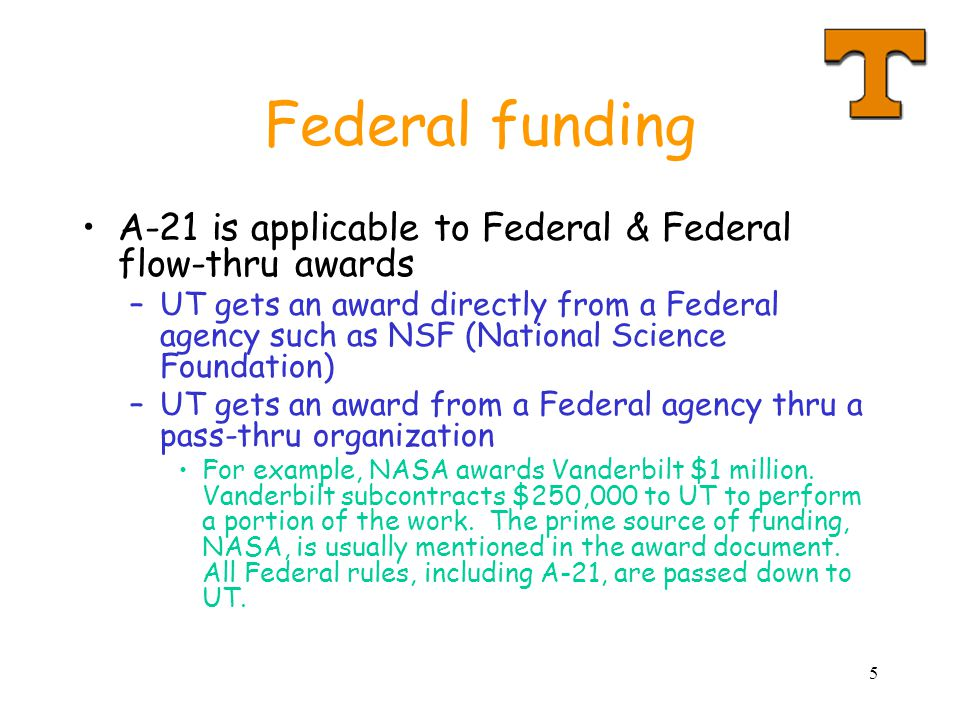 16 Example #1 Dr.Jones is proposing that a sponsor grant UT $100,000 for a seminar.