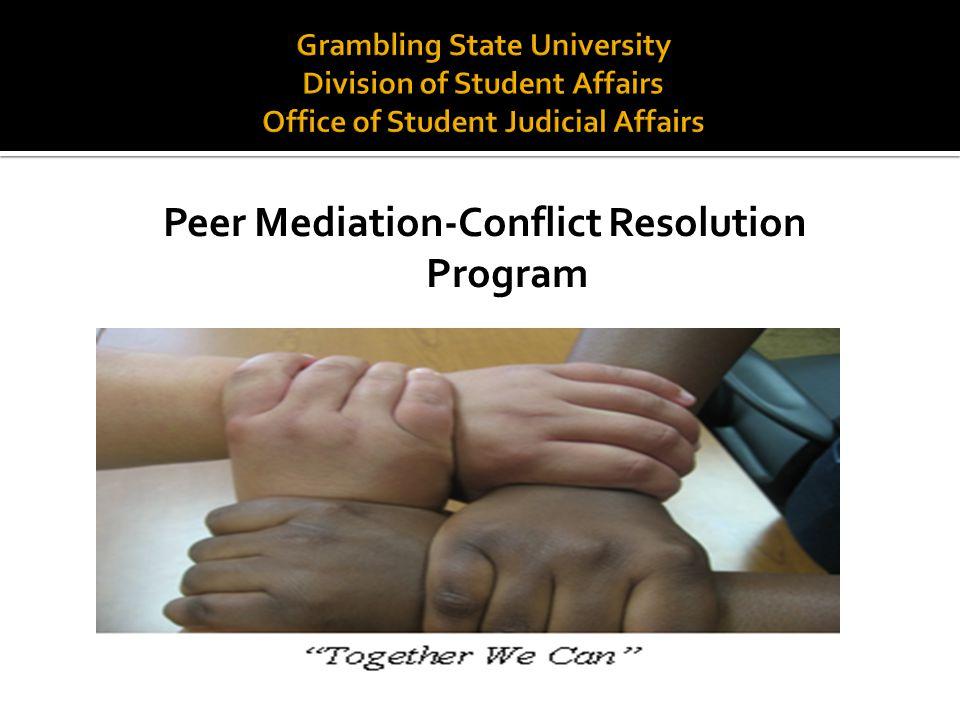 Peer Mediation-Conflict Resolution Program