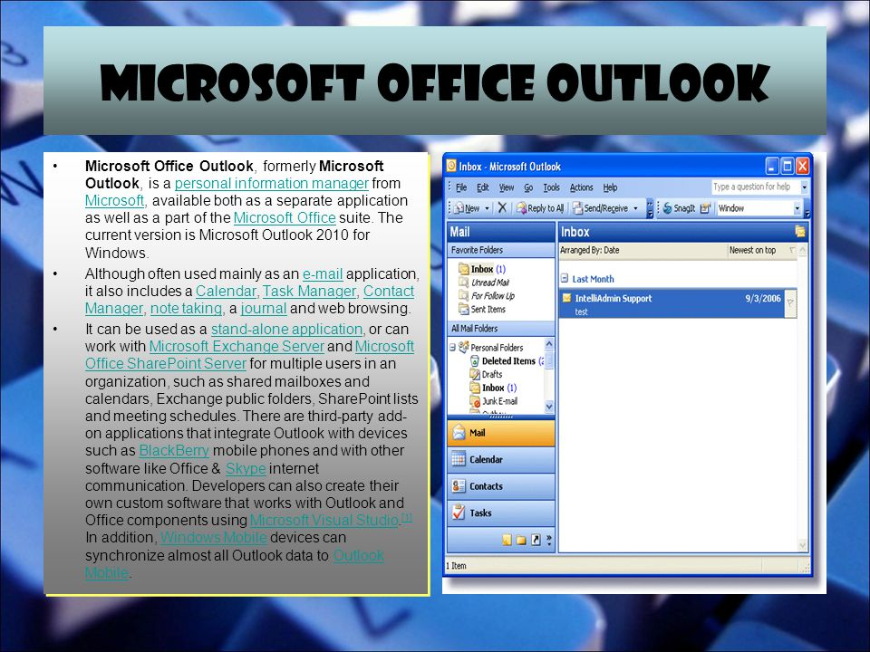 MICROSOFT OFFICE ACCESS Microsoft Office Access, previously known as Microsoft Access, is a pseudo- relational database management system from Microsoft that combines the relational Microsoft Jet Database Engine with a graphical user interface and software-development tools.