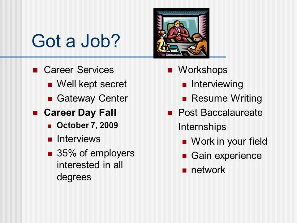 Got a Job.
