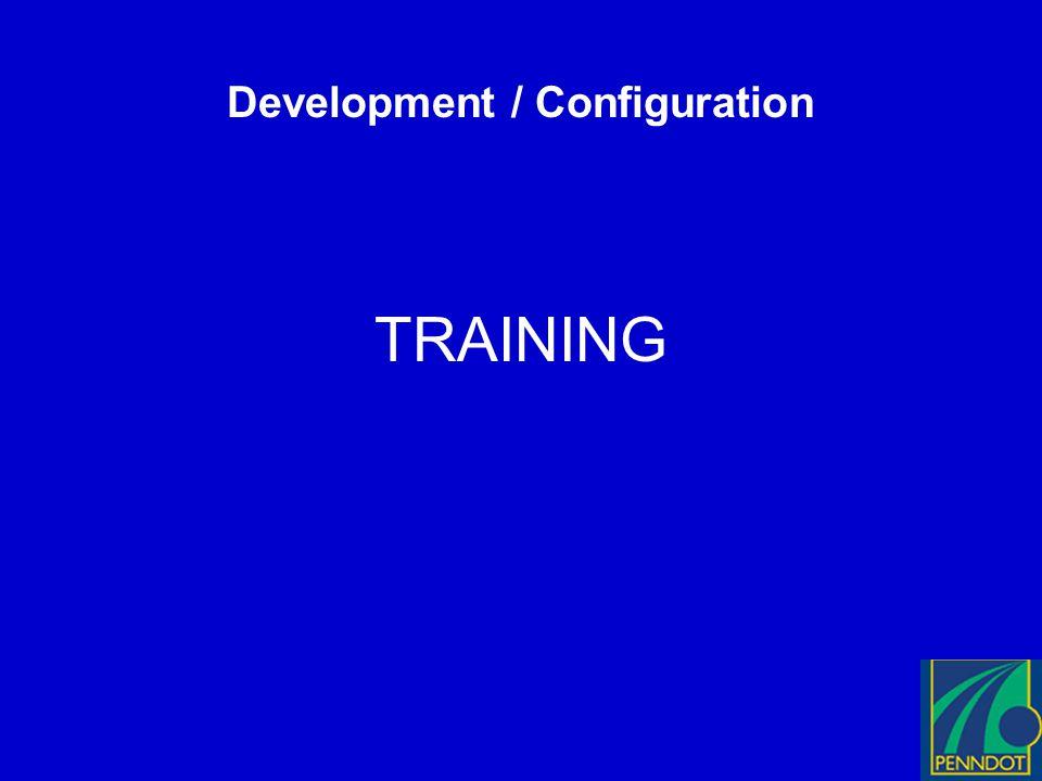 Development / Configuration TRAINING