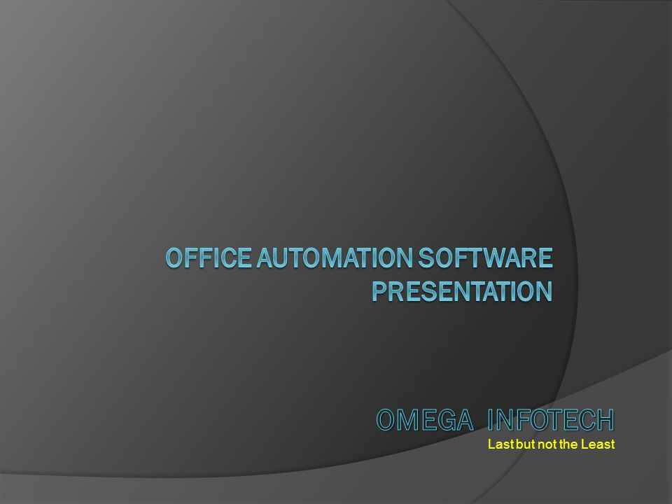 OFFICE AUTOMATION - Expenditure Omega InfoTech Contact : 9500979112, 113