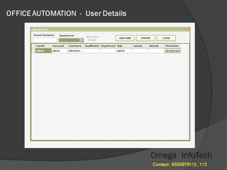 OFFICE AUTOMATION - File Menu Omega InfoTech Contact : , 113