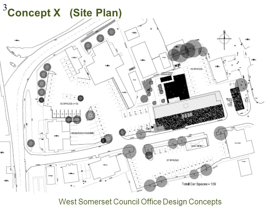 Concept X (Site Plan) West Somerset Council Office Design Concepts 3