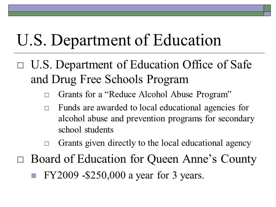 U.S. Department of Education U.S.