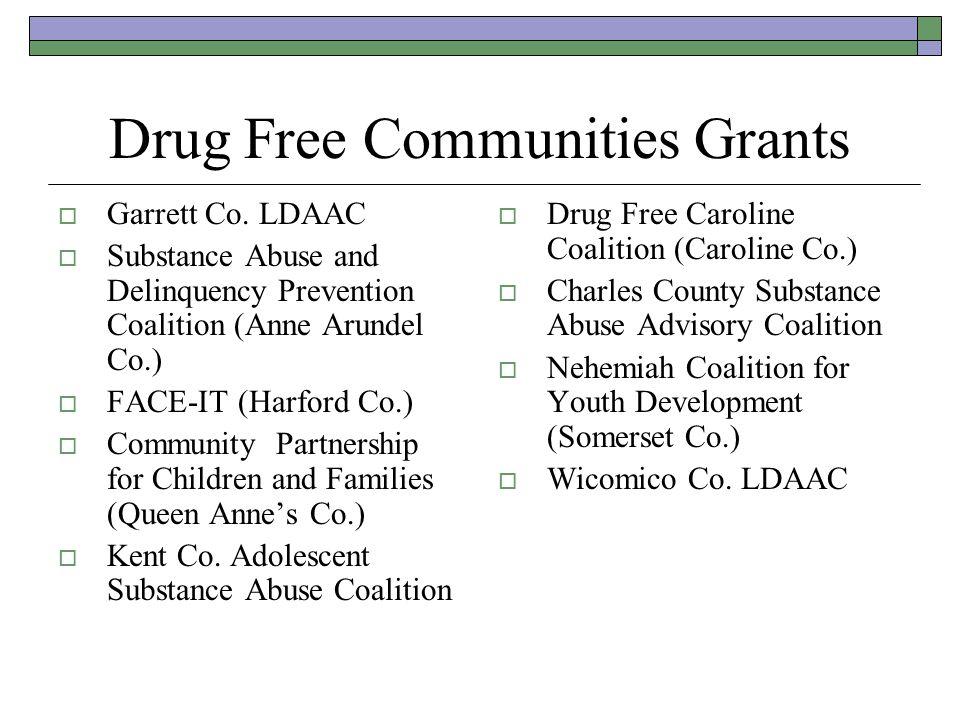 Drug Free Communities Grants Garrett Co.