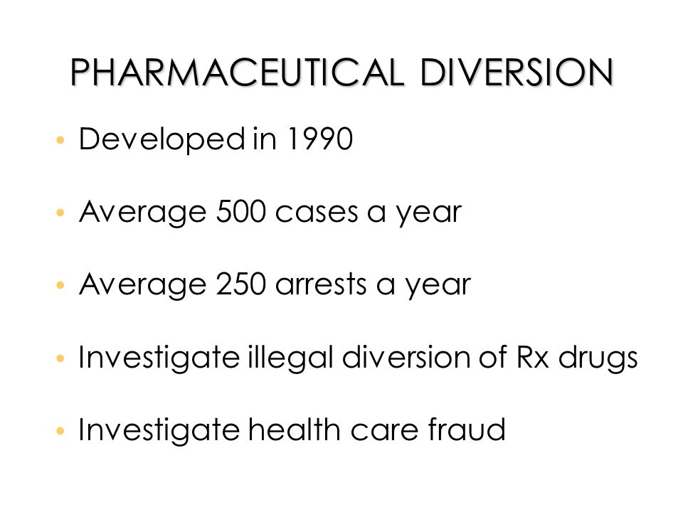 Rx Patrol l Reporting necessary by LE &/or pharmacists l www.rxpatrol.org www.rxpatrol.org l Database compares like/similar offenses l LE agencies contacted if possible match occurs