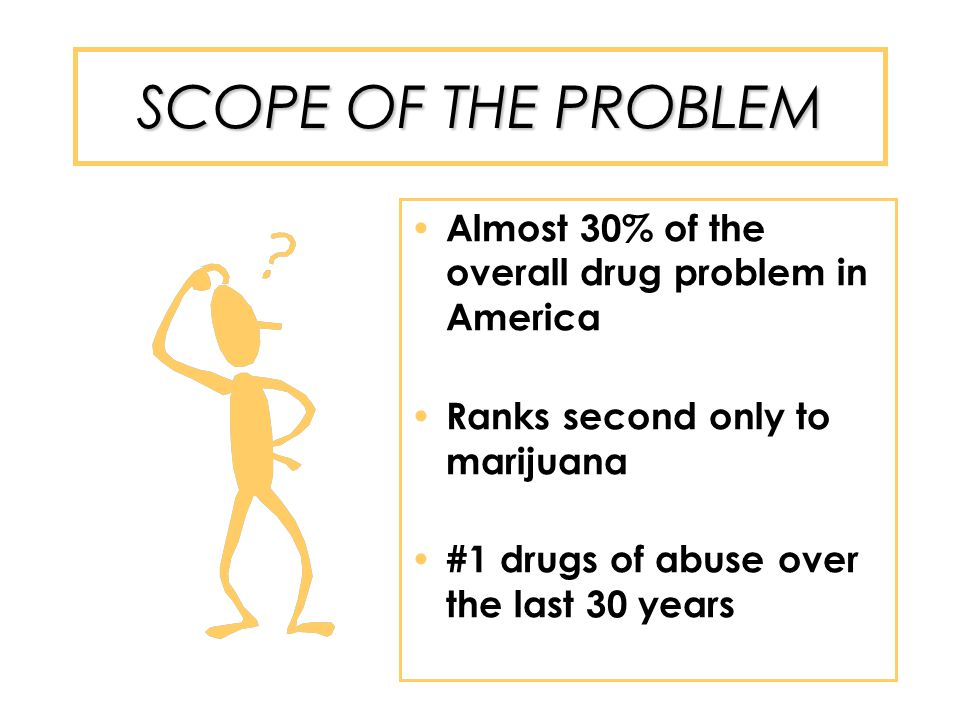 SCOPE OF THE PROBLEM 2003 SAMHSA Survey Results: 6.2 million people abused Rx drugs in the last year Significant rise in Rx abuse for those 12-17 years of age