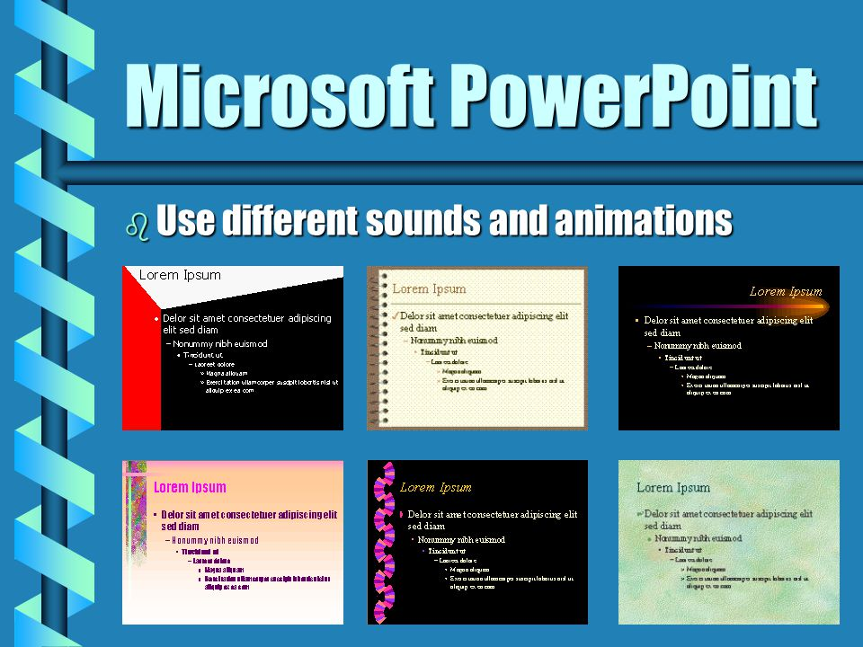 Microsoft PowerPoint b Presentation Program Create Presentations just like this one.Create Presentations just like this one.