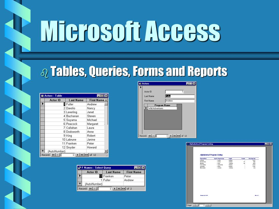 Microsoft Access b Database Program Create Relational DatabasesCreate Relational Databases