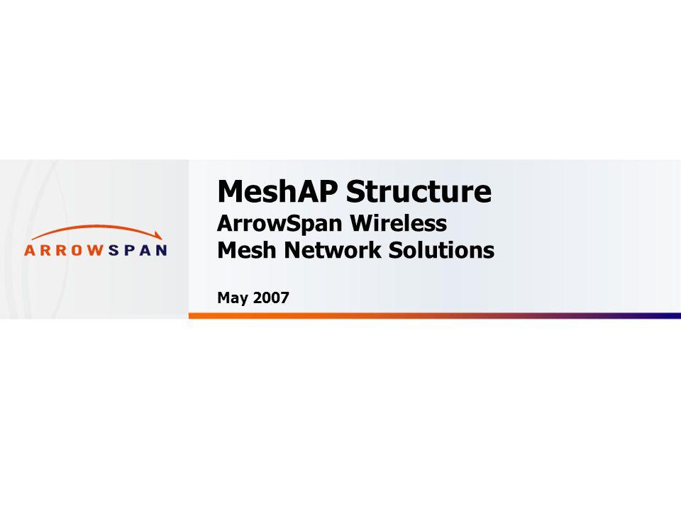 Confidential Node-to-node Interconnection MeshAP 3100 – Dual 5GHz / Single 2.4GHz Wireless Mesh Access Point Backhaul Mesh Link: Dual 5GHz AP: Single 2.4GHz Mesh Link Down Link To Mesh Up Link To Mesh Client Link
