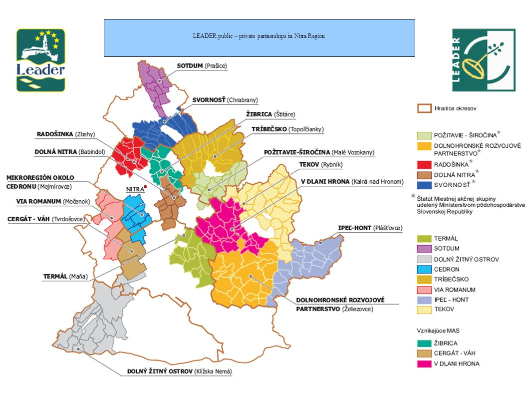End Users : 96 % - municipalities 4 % - civic associations End Users : 77 % - municipalities 23 % - civic associations, civic initiatives, businesses Office of the Nitra Self-governing region Department of strategic activities