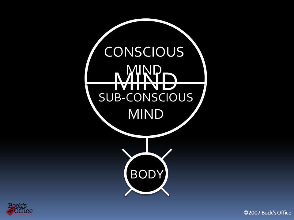 MIND BODY CONSCIOUS MIND CONSCIOUS MIND SUB-CONSCIOUS MIND SUB-CONSCIOUS MIND ©2007 Bocks Office MIND