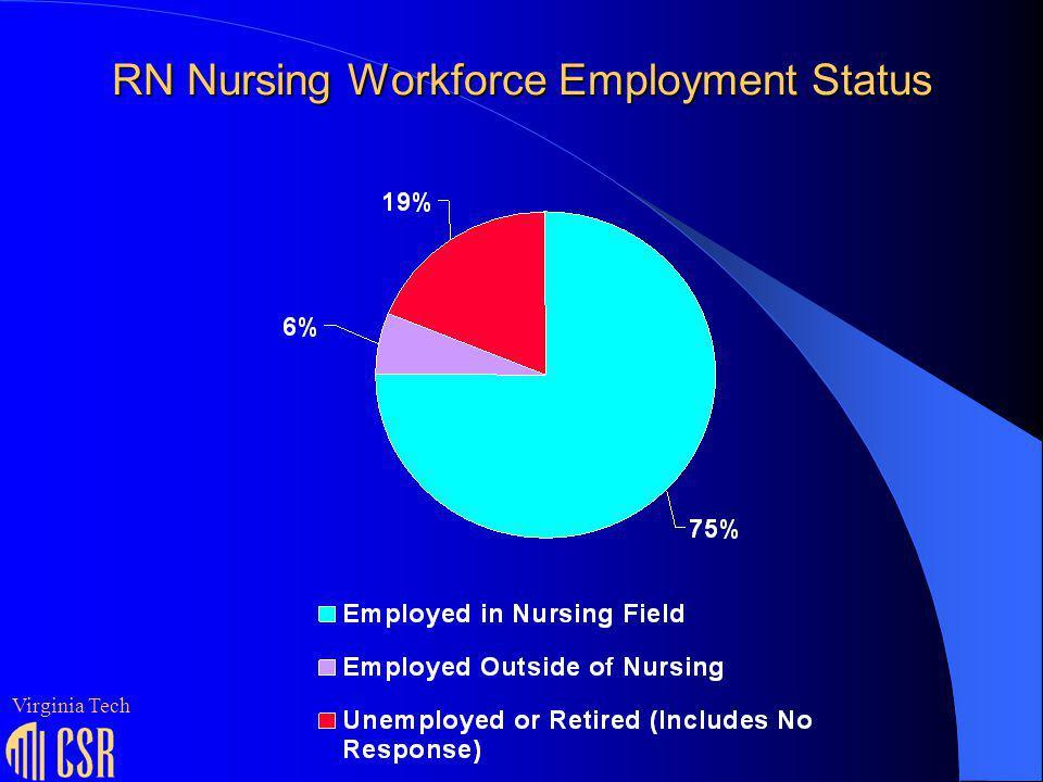 RN Nursing Workforce Employment Status Virginia Tech