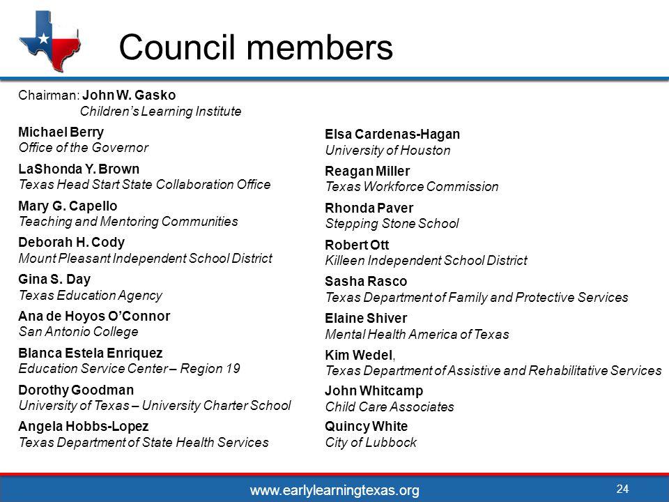 Council members Chairman: John W.