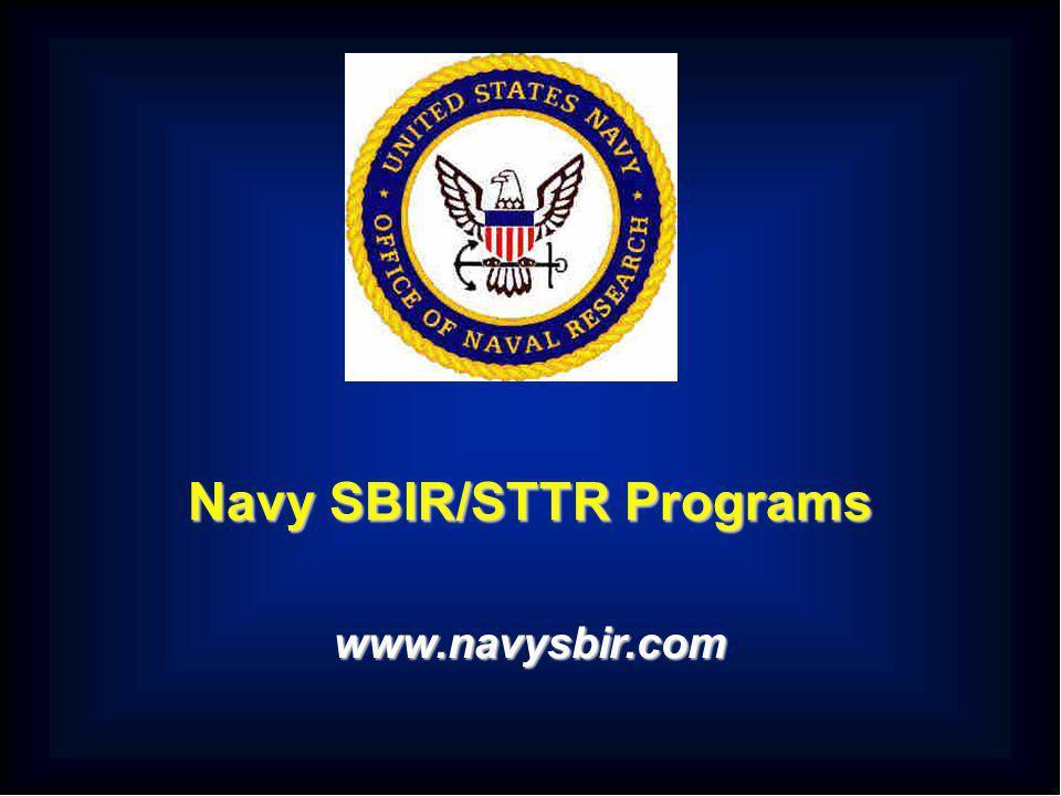 Navy SBIR/STTR Programs www.navysbir.com