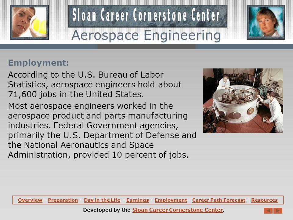 Aerospace Engineering Earnings: According the U.S.