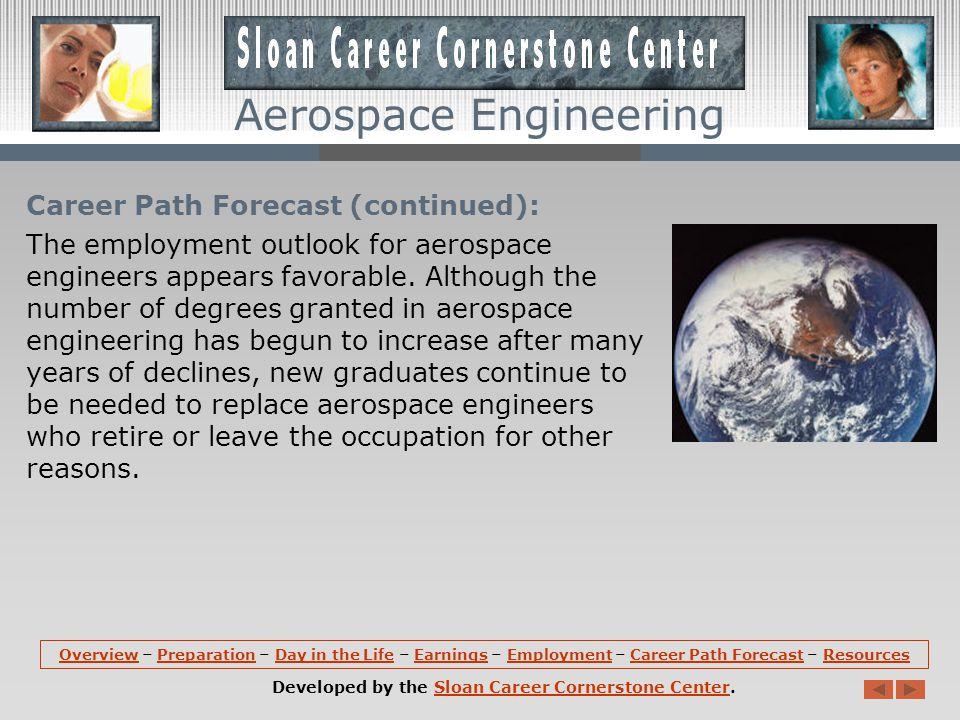 Aerospace Engineering Career Path Forecast: According to the U.S.