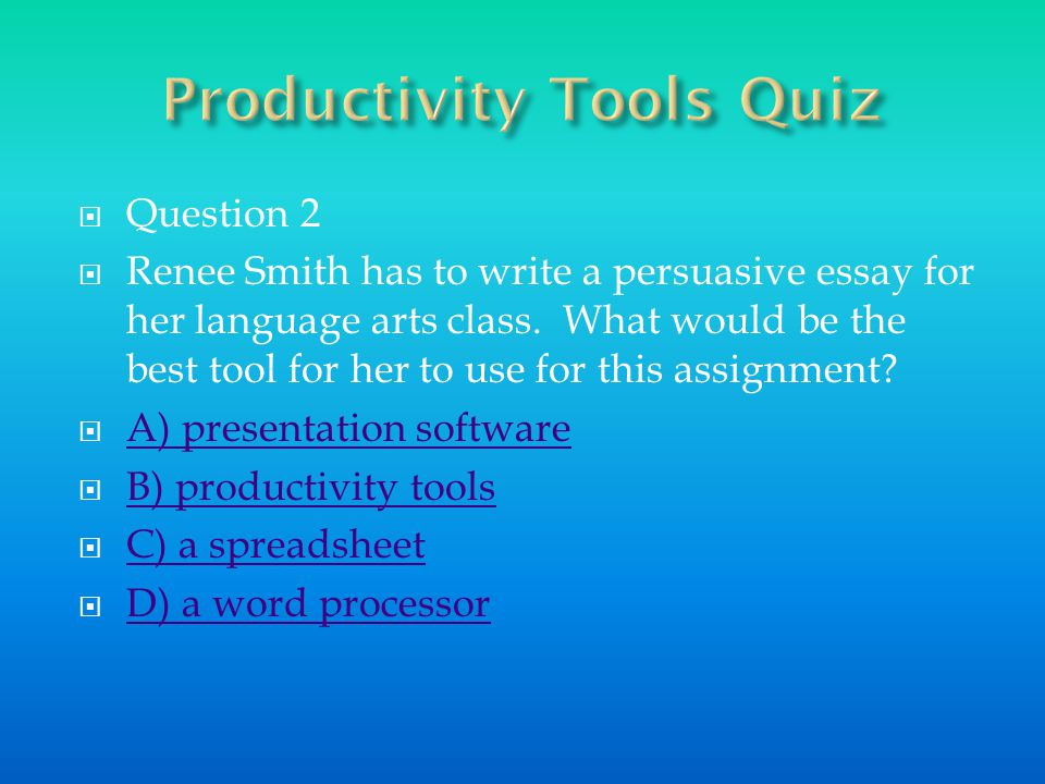A few other word processing programs include Writer in Open Office and Word Processor in Microsoft Works.