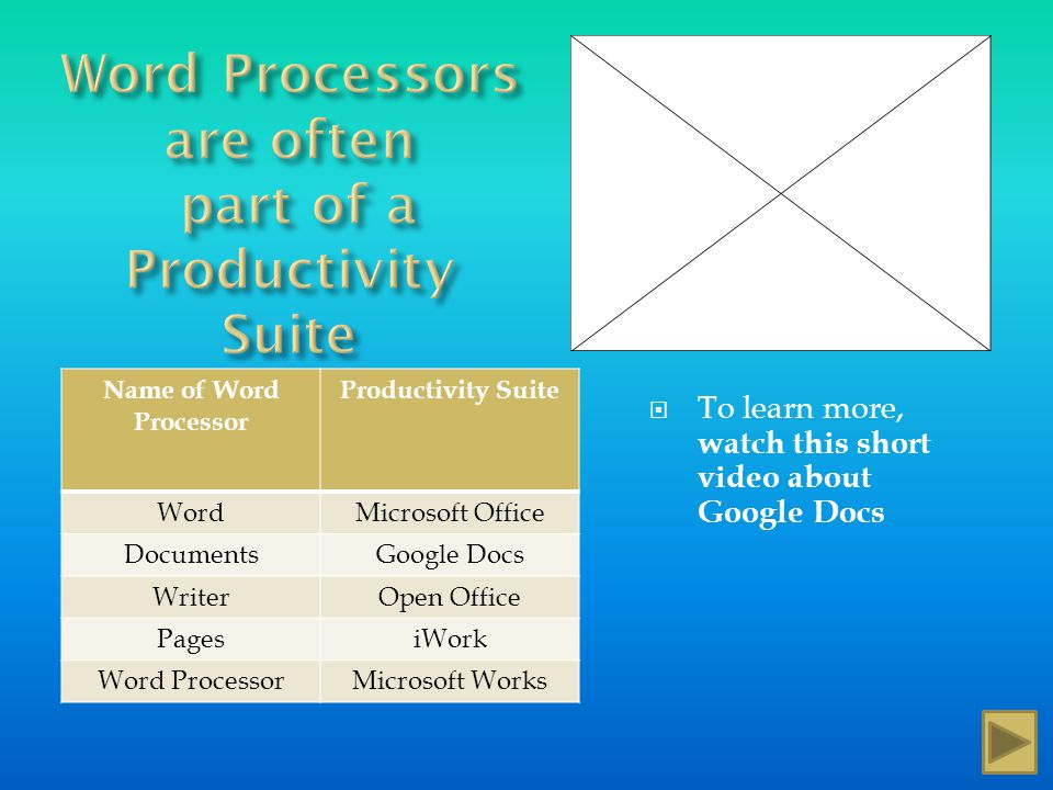 A word processor, or word processing program, does exactly what the name implies, it processes words. It also processes paragraphs, pages, and entire