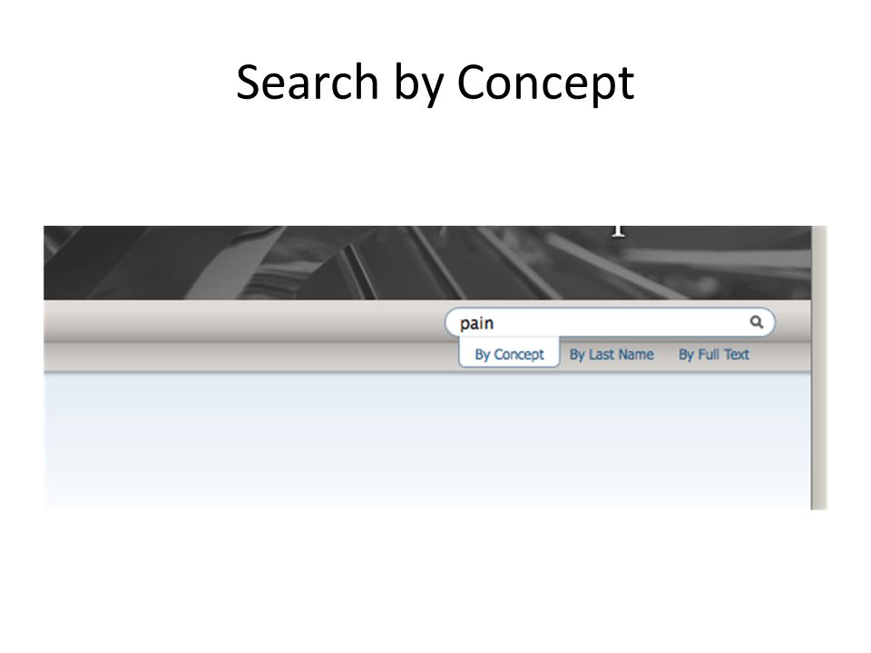 Search by Concept